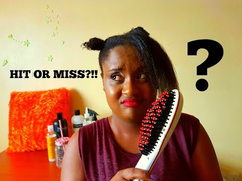 HIT OR MISS? | Hair straightening brush review on Type 4 Hair