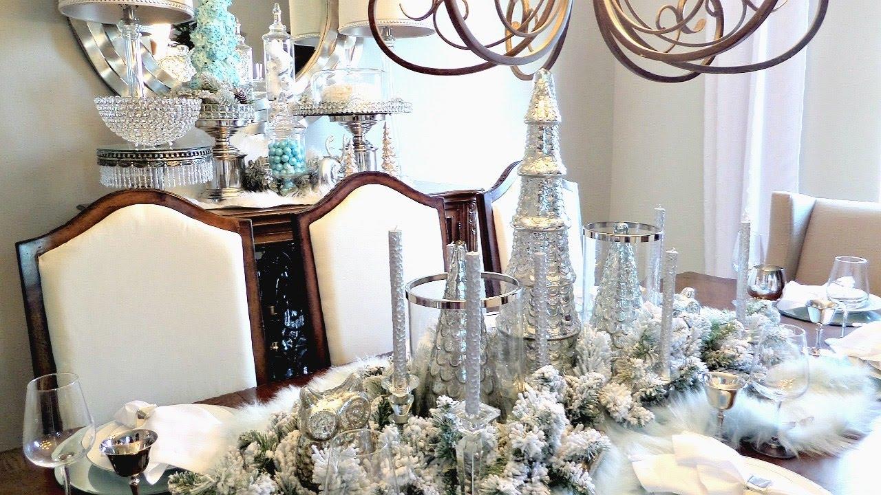 Christmas Tablescape Winter Wonderland YouTube NEW