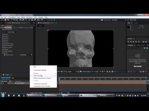 Importing 3d Objects OBJ in Adobe After Effects