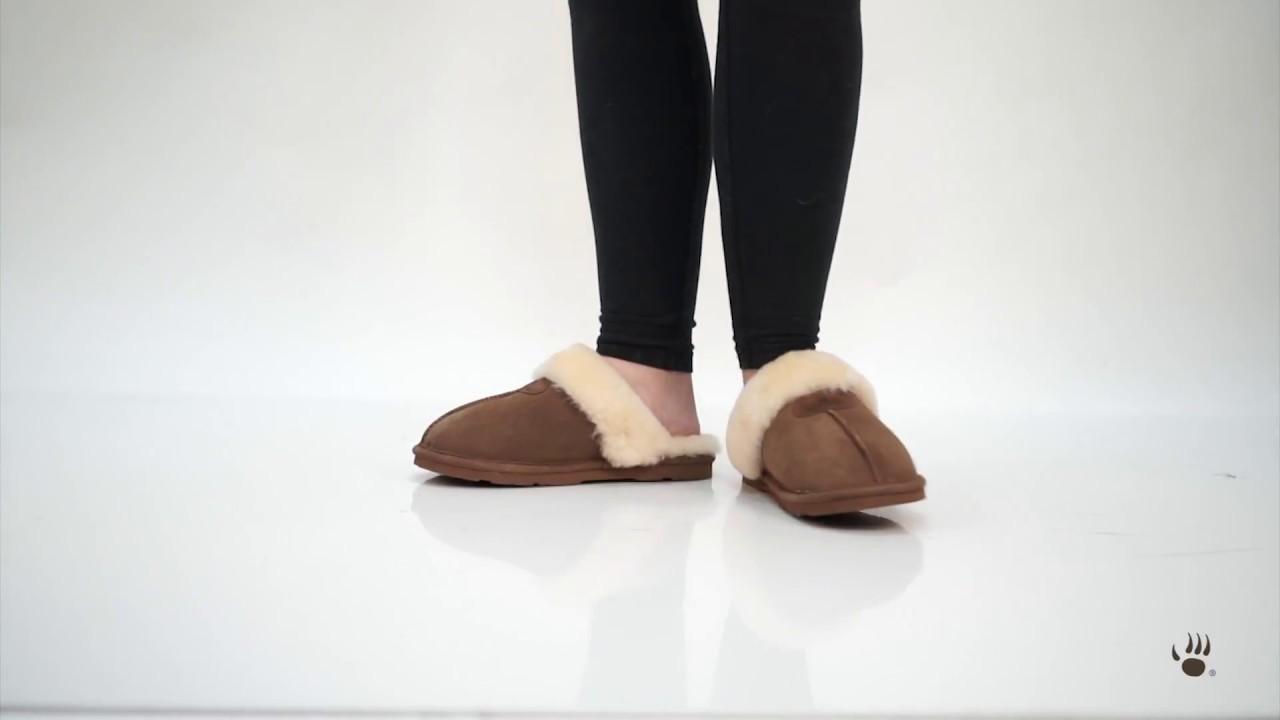 e9bb465f969 Bearpaw Women s Loki Slippers - YouTube