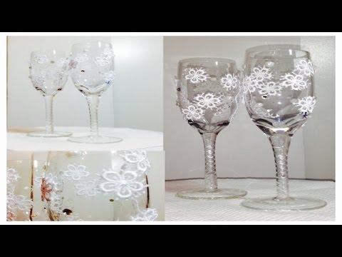 Aprenda a decorar copas para boda youtube - Como decorar copas para boda ...