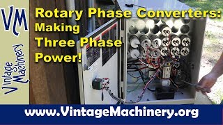 American Rotary Phase Converters: Making your own Three Phase Power