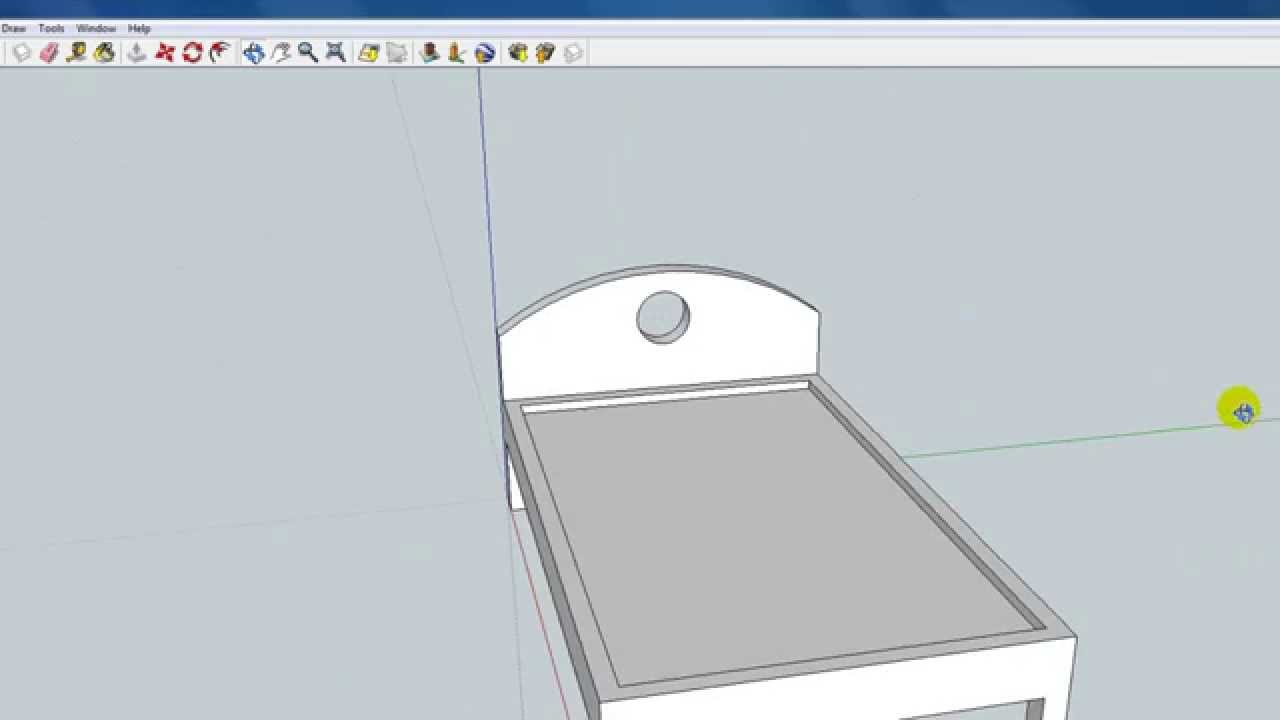 How To Draw A Bed Google Sketchup Youtube