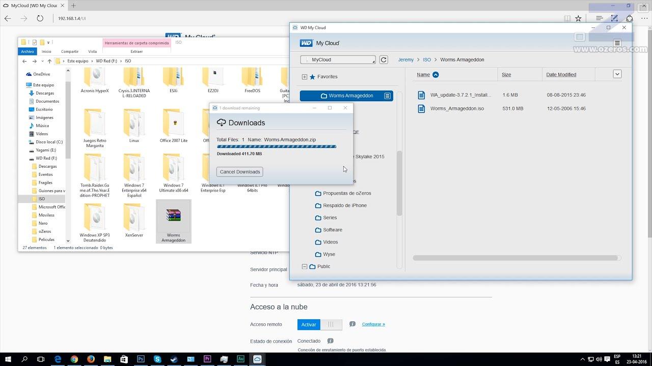 Wd Mycloud Copia De Archivos Con Mycloud Desktop Youtube