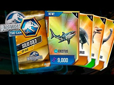 BEST VIP PACK SOLID GOLD OPENING!! - Jurassic World The Game - (Pack Opening) HD