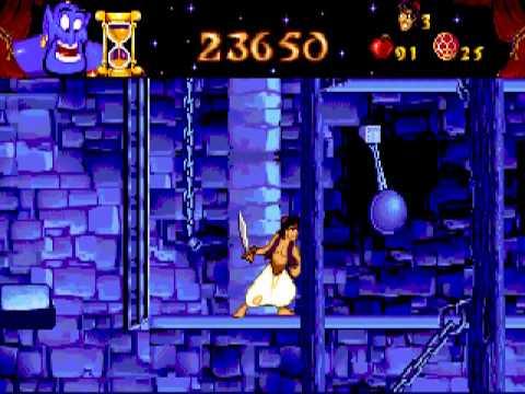 Aladdin speedrun (PC/DOS game) fast walk through stage 1 to 8
