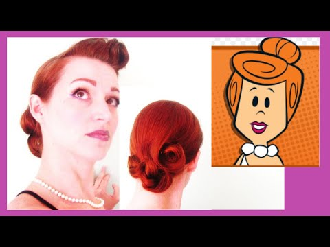 'Bedrock And Barrel Curls'-Wilma Flintstone Inspired Hair/Makeup For Animated Angels