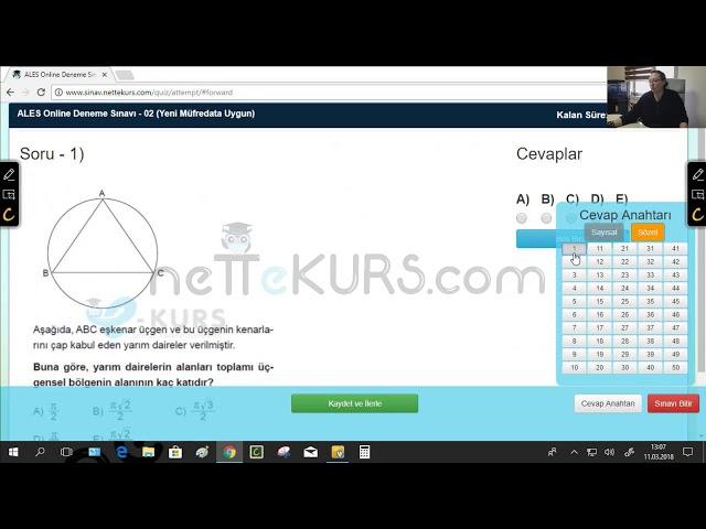 ALES Sözel Dersleri - Deneme - 2 / Online ALES Kursu - nettekurs.com - Uzaktan Eğitim Dershanesi