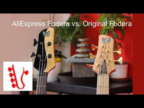 Original Fodera Richard Bona Bass Vs. AliExpress Fake Fodera Yin Yang Bass