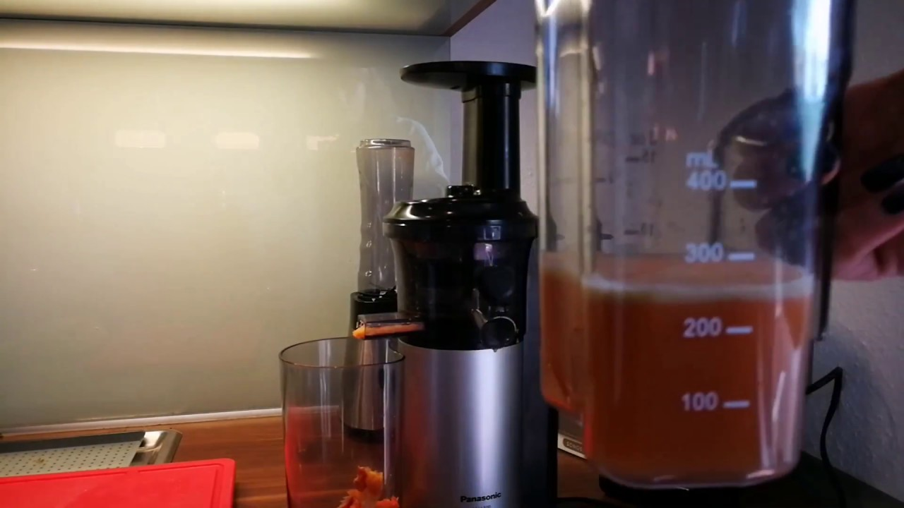 Panasonic Mj L500 Slow Juicer Reviews : Panasonic MJ-L500 Slow Juicer Entsafter Review - YouTube