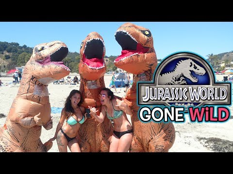 Jurassic World Gone Wild! (T-Rex Fun, Sexy Beach Girls, Pranks And More!)