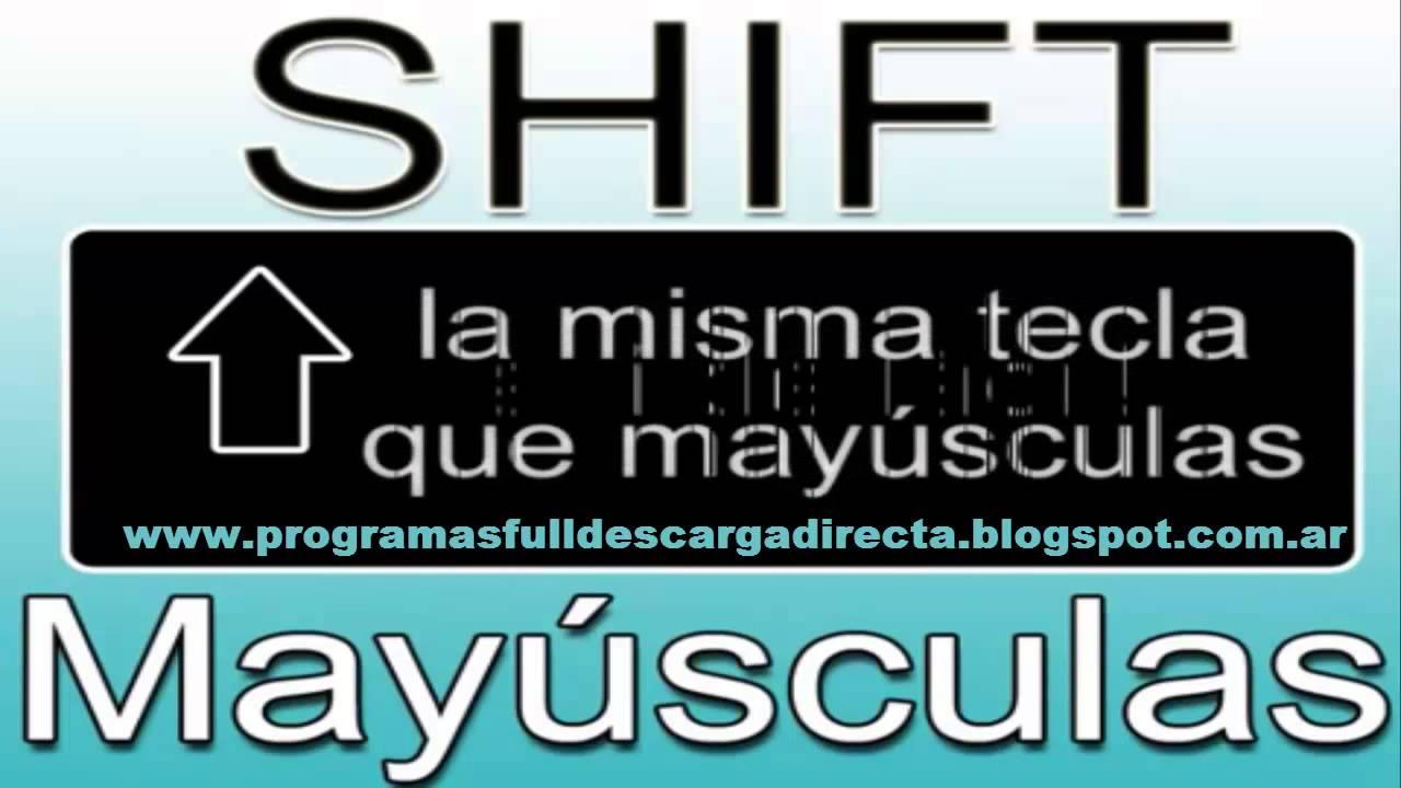 Shift que tecla es