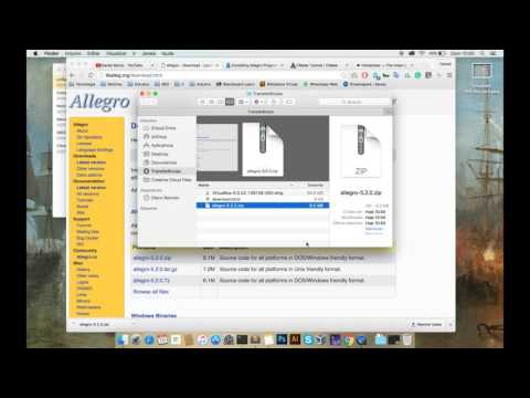 How to install Allegro 5 to Mac OS