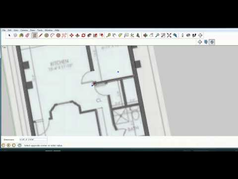 Sketchup Lesson 9- Make a Model From a Blueprint