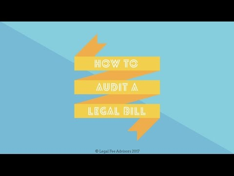How to Audit a Legal Bill