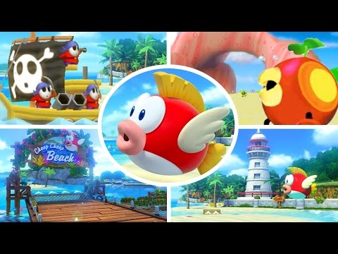 Evolution Of Beach Courses In Mario Kart (1992-2017)