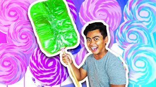 DIY How To Make GIANT LOLLIPOP!