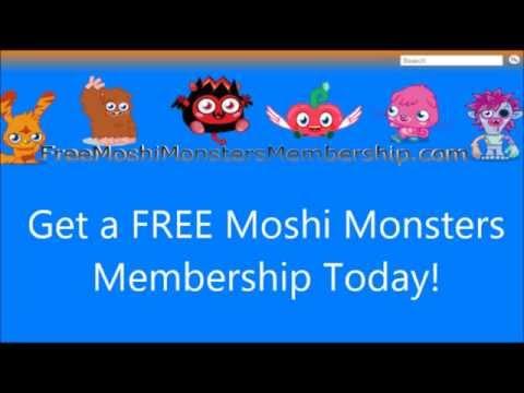 Free Moshi Monsters Membership June 2014