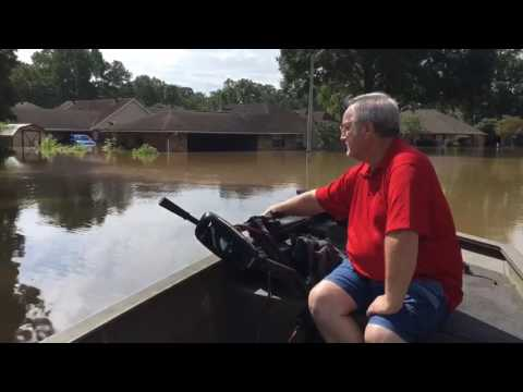 Baton Rouge flooding: Resident shows neighborhood by boat