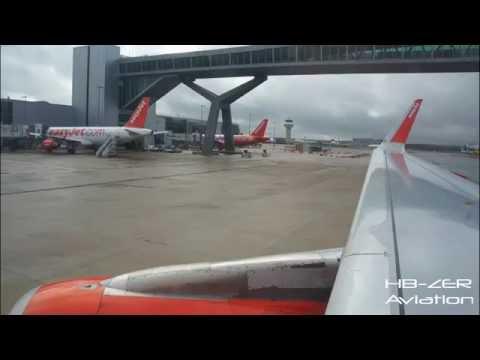 Airbus A320 Sharklets easyJet UK - Pushback, Start-up, Taxi & Take-off London Gatwick to Geneva