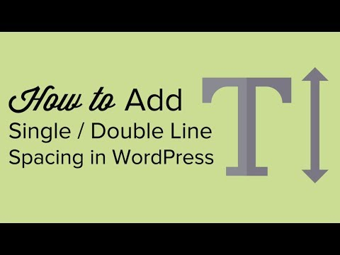 How To Add Single Or Double Line Spacing In WordPress Easily