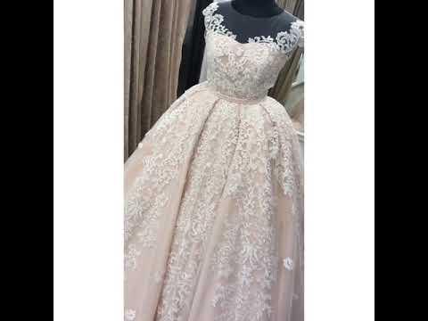 Очень красивое свадебное платье нежное. Армянская свадьба. Краснодар