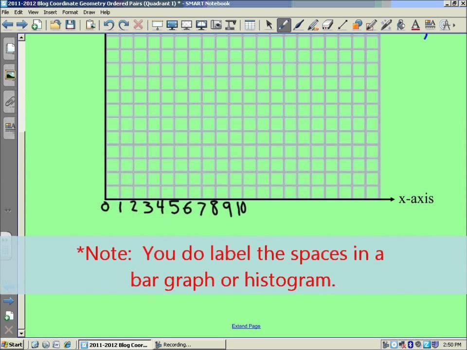 coordinate grid quadrant 1 - 960×720
