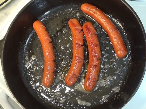 Cooking Hot Dogs In A Cast Iron Skillet