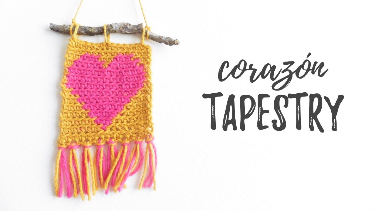 CORAZÓN en crochet TAPESTRY | tutorial PASO A PASO | Ahuyama Crochet ...