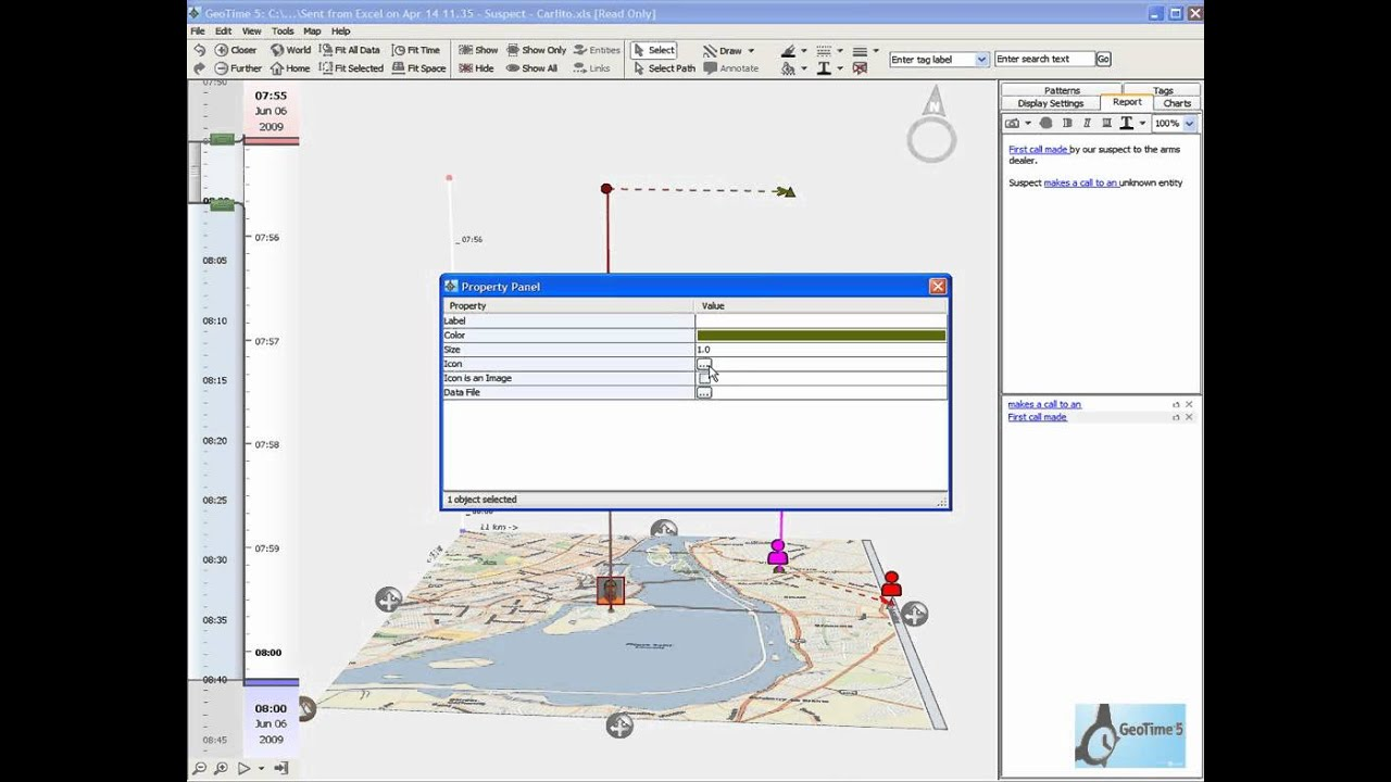 hight resolution of geotime cell site analysis workflow demonstration