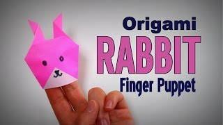Origami - How to make a RABBIT (FINGER PUPPET)