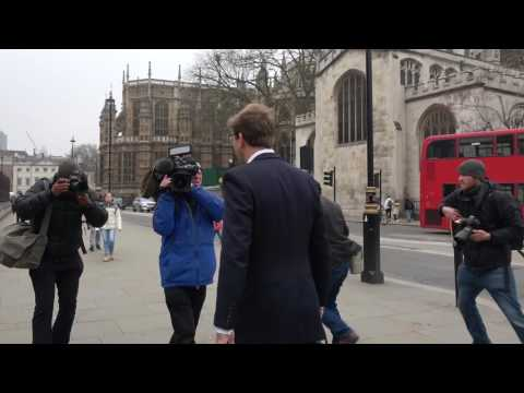 'Hero' MP Tobias Ellwood runs media gauntlet at Parliament on Friday morning