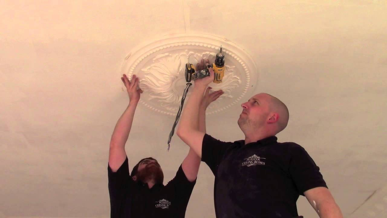 Installing A Plaster Ceiling Rose YouTube