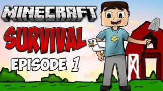 Minecraft: Survival Lets Play! Ep.1 GOOD START!