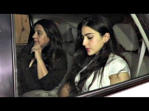 Sara Ali Khan With Mother Amrita Singh At Jaya Bachchan Birthday Party