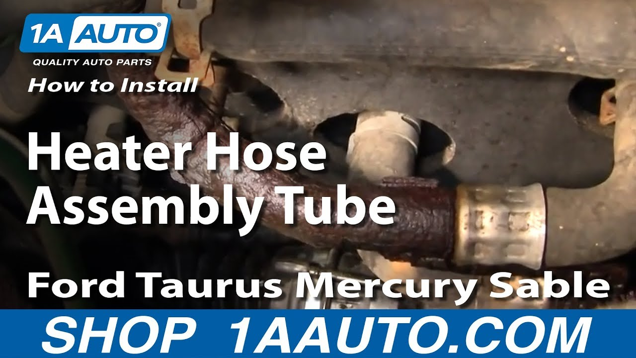 How To Install Replace Heater Hose Assembly Tube Ford Taurus Mercury 1997 Contour Headlight Schematic And Wiring Diagram Sable 00 05 1aautocom Youtube
