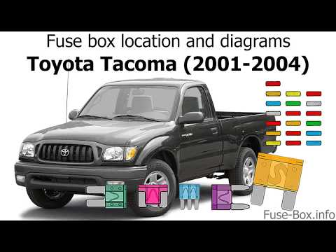 fuse box location and diagrams toyota tacoma 2001 2004 2006 Toyota Tacoma Dash Fuse Box Diagram 2004 toyota tacoma fuses wiring
