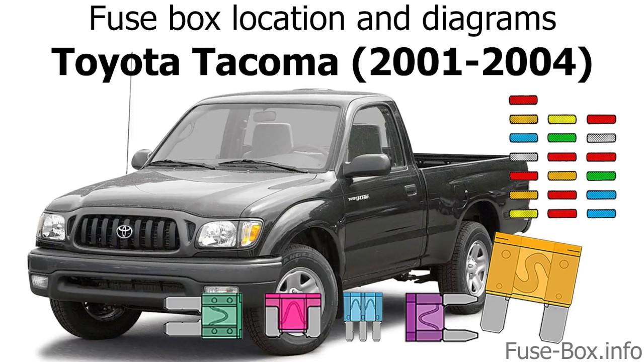 small resolution of fuse box location and diagrams toyota tacoma 2001 2004 youtube 2005 tacoma fuse box