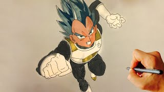 How to Draw Vegeta SSGSS – Super Saiyan God Super Saiyan - Resurrection F