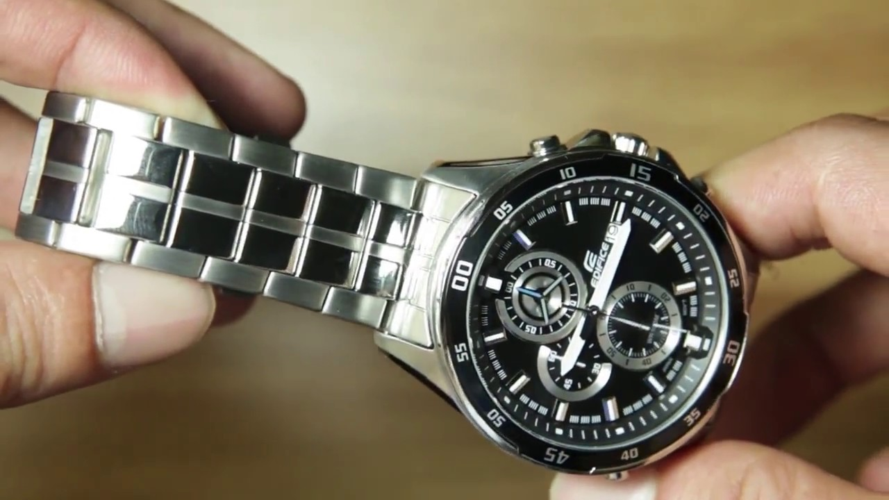 b81da016e423 Casio Edifice EFR-547D-1AV  UNBOXING   NIGHT DEMO - YouTube