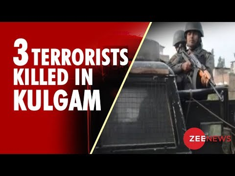 3 Terrorists Shot Dead In Kashmir's Kulgam
