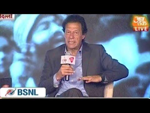 Former Pakistan Captain Imran Khan On Agenda Aaj Tak 2015