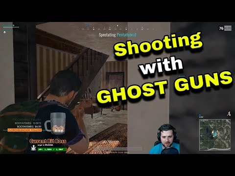 Shooting with GHOST GUNS! - AG Plays PLAYERUNKNOWN'S BATTLEGROUNDS - Episode 2