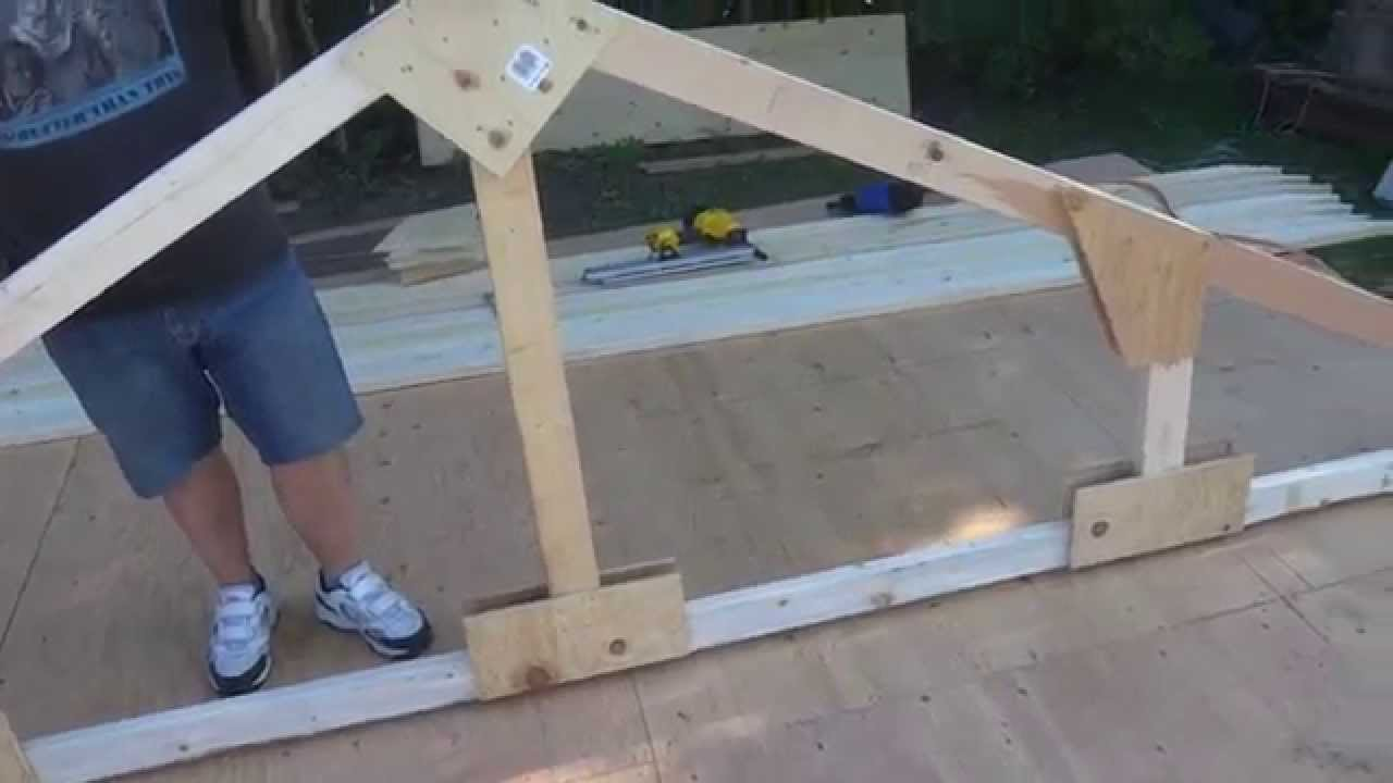 How to build wood trusses  YouTube