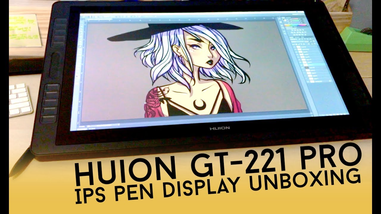 HUION GT-221 PRO IPS PEN DISPLAY UNBOXING // Jacquelindeleon