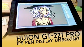 HUION GT-221 PRO IPS PEN DISPLAY UNBOXING // Jacquelindeleon