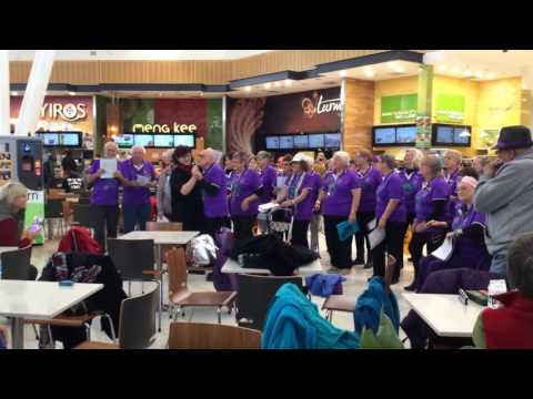 Silver Beat Rock Choir & Band Flash Mob 2016 City of Playford - Grenville Community Connections Hub