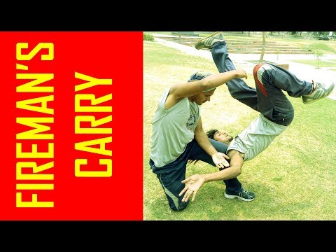 "#37 II GRAPPLING MOVE II THROW (FIREMAN'S CARRY)... II BY ""REAL MAN REAL FIGHT""."