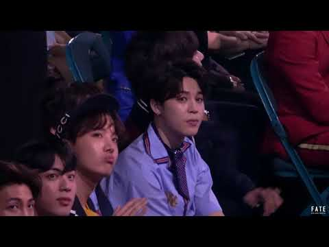 180520 BBMAs 2018 Jimin reaction to Dua Lipa 'New Rules'