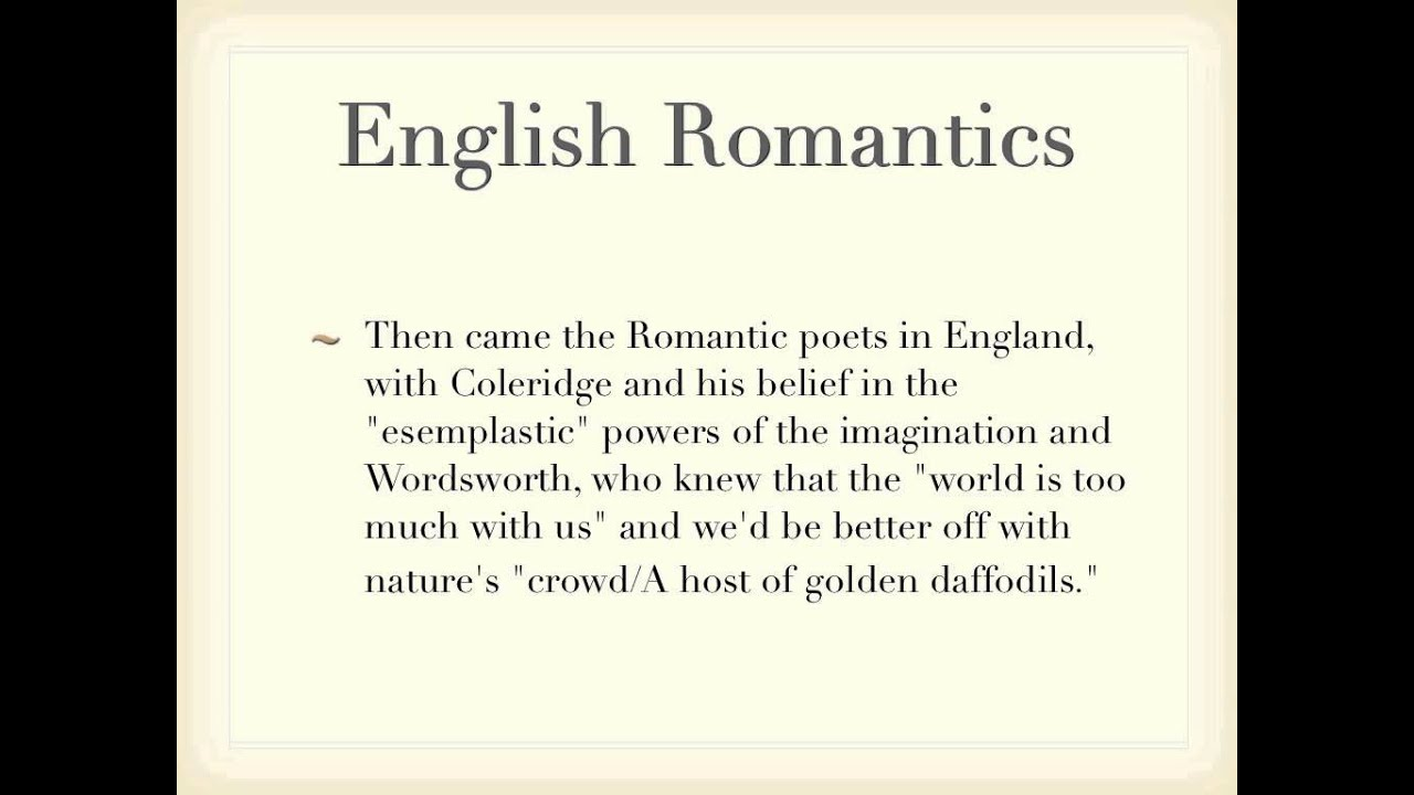 difference between romanticism and transendinlalism in american Gothic literature, romanticism, and transcendentalism gothic literature: is a genre of literature that combines elements of both horror and romance as a genre, it is generally believed to have been invented by the english author horace walpole , with his 1764 novel the castle of otranto.